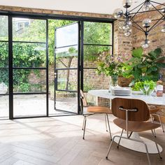 Crittall windows – everything you need to know about black s.- Crittall windows – everything you need to know about black steel frames – Crittall windows – everything you need to know about black steel frames – - House Extension Design, House Design, Crittal Doors, Crittall Windows, Steel Doors And Windows, Steel Frame Doors, Steel Frame House, Black Window Frames, Metal Frames