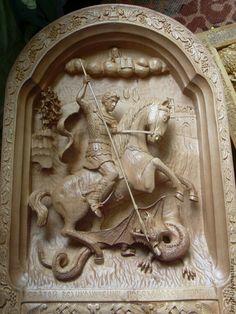 Cross Art, Saint George, Wood Carving, Wood Art, 1, Woodworking, Marvel, Sculpture, Ikon