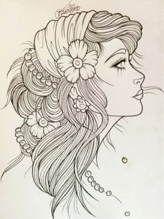 Gypsy Girl Tattoo Sketch beautiful but not getting it by Chloe Elizabeth