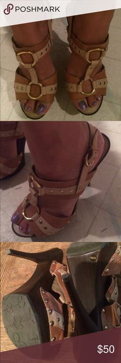 Jessica Simpson Heels!! So cute!! Only worn a couple times! Jessica Simpson Shoes Heels