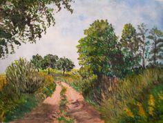 GALERIA PALOMO MARIA LUISA: CAMINO EN LA TRIBU I Country Roads, Painting, Art, Drive Way, Scenery, Art Background, Painting Art, Kunst, Paintings