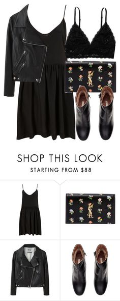 """Untitled #4977"" by laurenmboot ❤ liked on Polyvore featuring Yves Saint Laurent, Acne Studios, H&M and Monki"