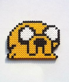 and then Jake melty beads! Jake Adventure Time, Jake The Dogs, Melting Beads, Camping Crafts, Plastic Canvas Patterns, Diy Projects To Try, Perler Beads, Beading Patterns, Easy Crafts