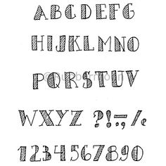 mka2 - alphabet w/stripes (unmounted only)