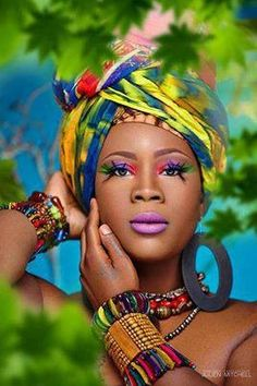 Queen of color. Africa