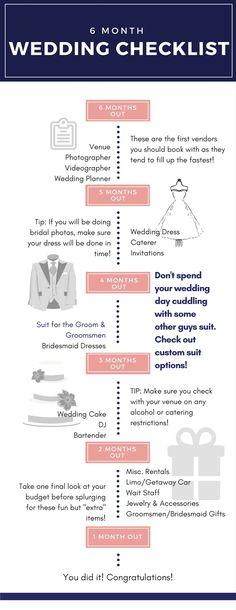6 month wedding planning timeline | Pinterest | Wedding planning ...
