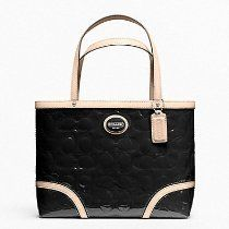 Coach Signature Black Peyton Embossed Patent Tote Leather Small Top handle Bag From Coach - Bags or Shoes Shop