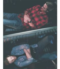 "Sam & Dean & Baby, I love that Dean, the ""big"" brother gives his oversized little brother the back seat."