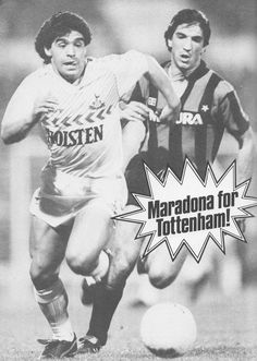 May Argentina legend Diego Maradona turning out Tottenham Hotspur in Ossie Ardiles Testimonial against Inter Milan, at White Hart Lane. Soccer Players, Football Soccer, Diego Armando, White Hart Lane, Class Games, Tottenham Hotspur Fc, Premier League, Milan, Sports