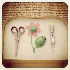 Suitcase Sewing Kit by PoppyAndBea on Etsy, $65.00
