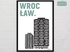 Wrocław | Sedesowce - plakat A3 - papierove - Wydruki cyfrowe