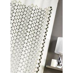 rideau max scandinave noir 140 x 260 cm 4 coloris rideaux et voilages forme g om trique. Black Bedroom Furniture Sets. Home Design Ideas