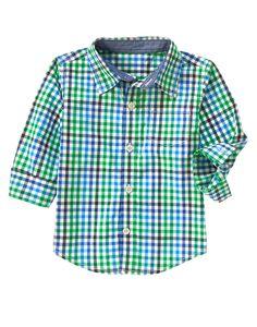 Gingham Shirt at Gymboree (Gymboree 6m-5T)