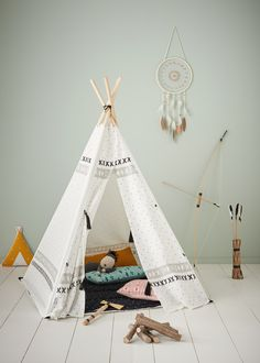 Cheyenne Teepee - white light all over printed, Toys Kids Tents, Teepee Kids, Childrens Teepee, Cute Curtains, Beautiful Space, Baby Accessories, White Light, Hanging Chair, Kids And Parenting