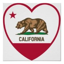 Shop California Love - California Flag Heart Poster created by World_of_Flags. Personalize it with photos & text or purchase as is! California Dreamin', Northern California, California Quotes, California Republic Flag, California Pictures, Heart Poster, Cali Girl, Tatoo Art, Custom Posters