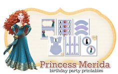 Princess Merida Party Printables