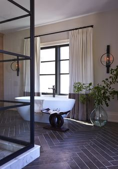 For your Calgary-based Nam Dang Mitchell, interior design is roughly chic, aesthetic, and glamorous themes that incredibly enough, make the . Read Best Interiors by Nam Dang Mitchell Design Bad Inspiration, Bathroom Inspiration, Interior Inspiration, Dream Bathrooms, Beautiful Bathrooms, Next Bathroom, Black Shower, Large Shower, Bathroom Trends