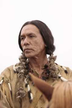 I'm going to have to start watching Hell on Wheels if Wes Studi is in it! Wes Studi in Hell on Wheels & Into the West - Born in Norfire Hollow, Oklahoma, Studi exclusively spoke his native Cherokee language until beginning school at the age of five. Native American Actors, Native American Cherokee, Native American History, Native American Indians, Dominique Mcelligott, Gaucho, Cowgirls, Wes Studi, Anson Mount