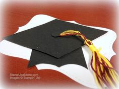 Graduation Cap punch art for Party Decor at http://StampUpaStorm.com