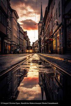 © Fotograf: Christian Egner, Abendliches Wetterschauspiel, Blende-Fotowettbewerb