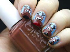 Advent Tutorial: Reindeer Nail Art