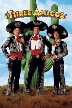 Watch ¡Three Amigos! full HD movie online - #Hd movies, #Tv series online, #fullhd, #fullmovie, #hdvix, #movie720pThree unemployed actors accept an invitation to a Mexican village to replay their bandit fighter roles, unaware that it is the real thing.