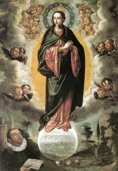 La Inmaculada por Francisco Pacheco. Sevilla. S. XVII