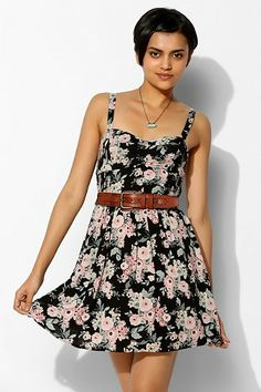 $10 Band Of Gypsies Stitched-Bodice Fit + Flare Dress - Urban Outfitters