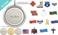 customize a locket and/or plate for your Origami Owl Living Locket to honor fire fighter, police, nursing, doctor, marine, navy, military, army, air force, coast guard, husband, wife, son, daughter.  http://ashleymae.origamiowl.com/