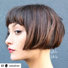 WEBSTA @ sydroze - Hair God @salsalhair with the best inta in the business @repostapp・・・Mon Amour...Color @mizzchoiCut/Style @salsalhair #bob #classicbob #haircut #frenchy #modernbob #bangs #fringe #coolhair #sexyhair
