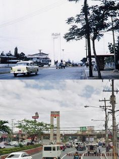 Dito, Noon: Welcome Rotunda, 1960s x 2018. #kasaysayan — The Welcome Rotunda or the Mabuhay Rotunda first opened in 1948, with a marble monument designed by Luciano V. Aquino erected at its center to welcome visitors to Quezon City, which was then the newly declared capital of the Philippines. Philippines Culture, Manila Philippines, Quezon City, Present Day, 1960s, Marble, Street View, History, Classic