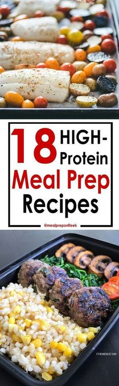18 high-protein meal prep recipes