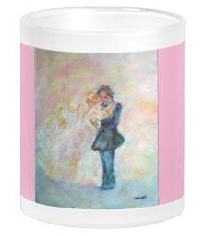 Wedding Reception Tableware - Wedding Dance Whimsical Wedding Drinking Glass