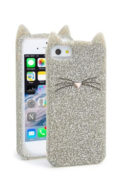 Glitter Cat iPhone Case