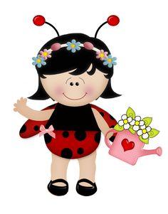 SGBlogosfera. María José Argüeso: DISFRAZADAS DE MARIQUITAS Y ABEJAS Clipart Png, Cute Clipart, Baby Ladybug, Bird Party, Dibujos Cute, Cute Bee, Hello Kitty Collection, Baby Art, Laura Lee