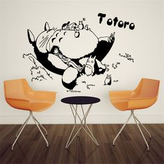 Fashion DIY Anime TOTORO Cartoon Wall Sticker For Kids Room Home Decoration Wallpaper For Walls Children Room Vinyls   HH1363