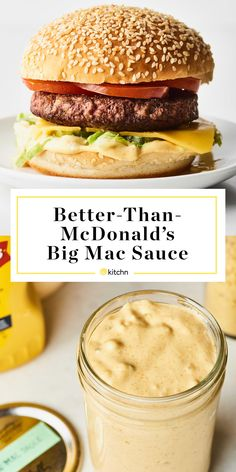 A combination of mayo, mustard, and relish give Big Mac sauce its signature creamy tang. Here's the easiest way to make it at home. Better-than-McDonald's Big Mac Sauce - Recipe: Better-than-McDonald's Big Mac Sauce Burger Sauces Recipe, Burger Recipes, Copycat Recipes, Sauce Recipes, New Recipes, Cooking Recipes, Favorite Recipes, Mcdonalds Recipes, Mcdonalds Burger Sauce Recipe