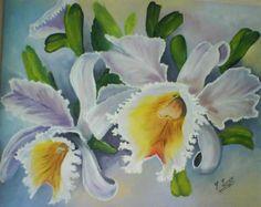 Bildergebnis für orquideas al oleo Decoupage, Peonies, Orchids, Embroidery, Board Art, Floral, Artist, Flowers, Plants