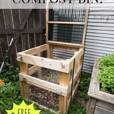 diy compost bin free plans, composting, diy, gardening, go green, how to, urban living, woodworking projects