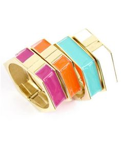 Hexagon Hingle Bangles, $22; shopdesignspark.com #bracelets #budget