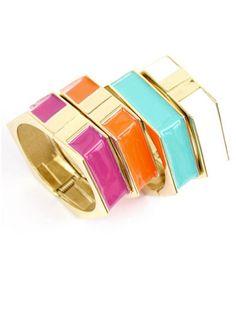 Hexagon Hingle Bangles, $22; shopdesignspark.com #bracelets #budget