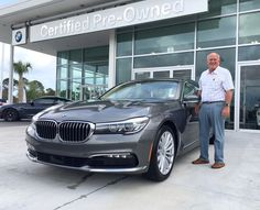 Take a look at this incredible 2016 BMW 740i purchased by Terry W. with our Team Member Brendan S. at our newly remodeled location in Daytona Beach. Congratulations on your new #BMW Terry...and thank you for making Fields BMW your automotive choice!  #FieldsBMW #740i #BMW740i #7Series #BMW7Series #BMWClub #DaytonaBeach #Florida #luxury #cars #automotive #auto #FieldsBMW #BMW #Florida