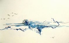 Jessica Esther Hoflick, Watercolour on Paper Watercolour, Watercolor Tattoo, Contemporary Landscape, Landscapes, Valentines, Paper, Artist, Pen And Wash, Paisajes