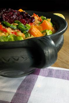RAINBOW QUINOA ENERGY SALAD -- This dish is filled with proteins and good stuff, excellent for long days out of the house when you need to keep your stomach full, and your energies and spirits up! Quinoa, Salads, Protein, Healthy Eating, Rainbow, Dishes, House, Eating Healthy, Rain Bow