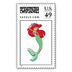 The Little Mermaid Ariel Disney Postage Stamps