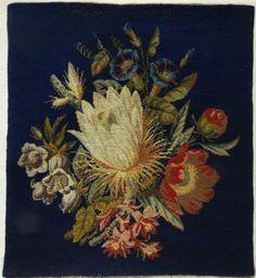 19TH-CENTURY-WOOL-WORK-FLORAL-SPRAY-SAMPLER-c-1890