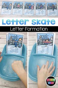 Letter Skate Letter Formation