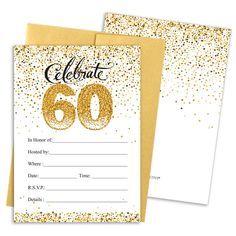 1 Sample Card + 1 Envelope A6 CARDS Birthday Party Invitations Invites Anniversary Celebration with Envelopes 70th Celebration