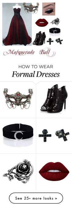 """Masquerade Ball"" by supernaturallyobsessedalyssa on Polyvore featuring Masquerade, Lime Crime and Nicole Miller"