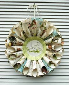 I really need to make more children's book wreaths for my shop soon! Seen on lillyella: June 2011